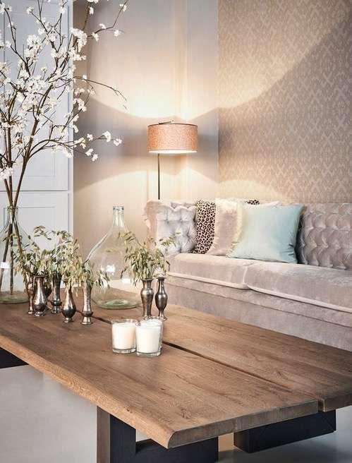 Papel tapiz: Cómo empapelar paredes con estilo [FOTOS] - Papel tapiz en tonos beige: elegante y discreto