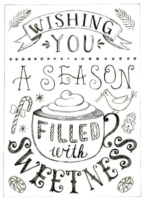 Anais Lee's sketch makes me super excited for the holidays! The First Steps of Hand-Lettering: Concept to Sketch - Class Feed - Skillshare