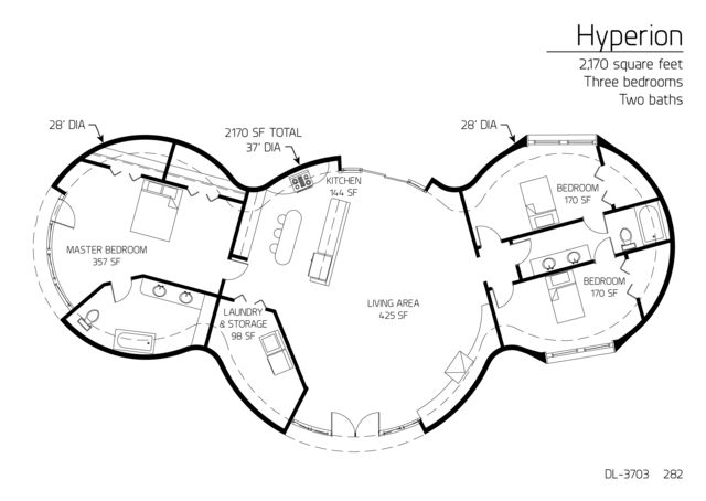 hyperion series 2170 ft sq 3br 2ba i love the wide open living Cool Master Bathrooms hyperion series 2170 ft sq 3br 2ba i love the wide open living spaces the only thing i d change is why n home unconventional homes plans in