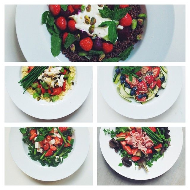 What's your favourite strawberry salad?! #strawberries #vegetarian #salad #happydesksalad #desklunch #desk #veg #nutrition #nutritionist #notsdadesklunch #fit #fitness #instafood #instasalad #feelgood #healthy #healthyfood #saladpride #saladlove #saladjam #healthnut #healthyfoods #healthylunch