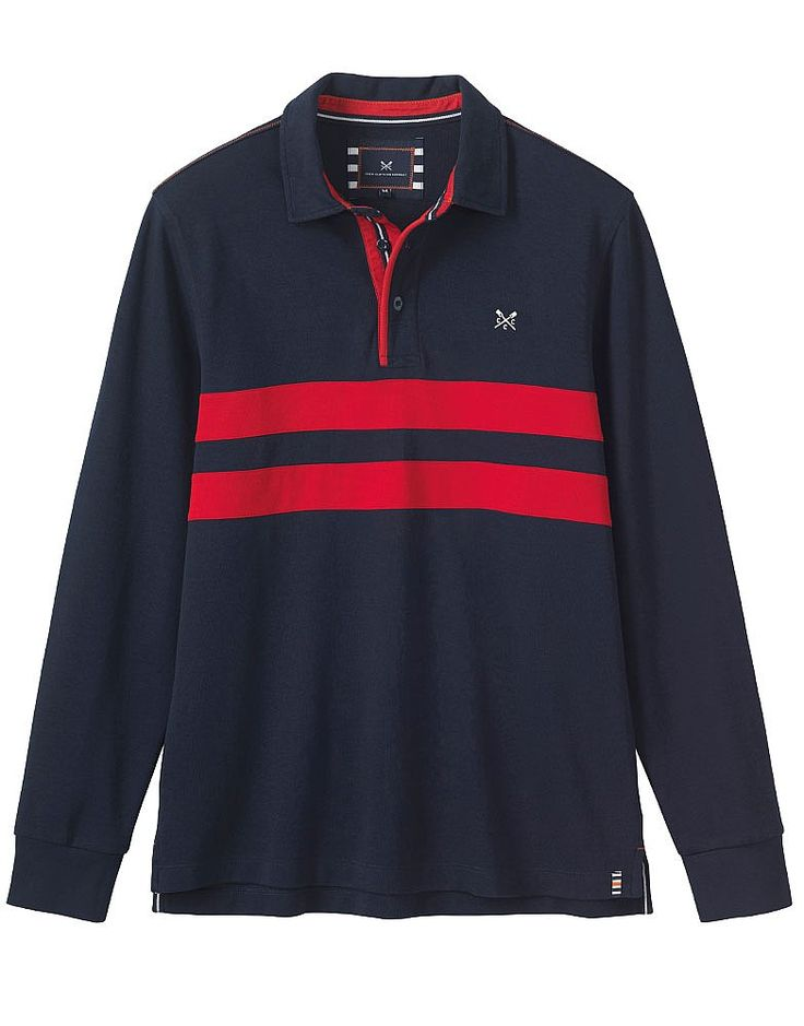 Buy our Men's Crew Club Trentwith Long Sleeve Rugby for £60 available in Navy at Crew Clothing. For more rugbys, visit Crew Clothing.