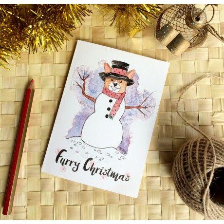 Cartão de Natal - SnowCorgi