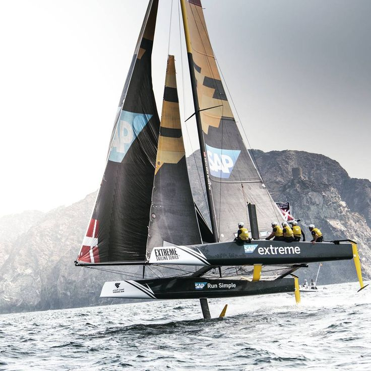Boats can fly too!  Photo by @sapextremesail  #sailboat #sailing #sailingstagram #sailinglife  #extremesailing #adventure #extreme