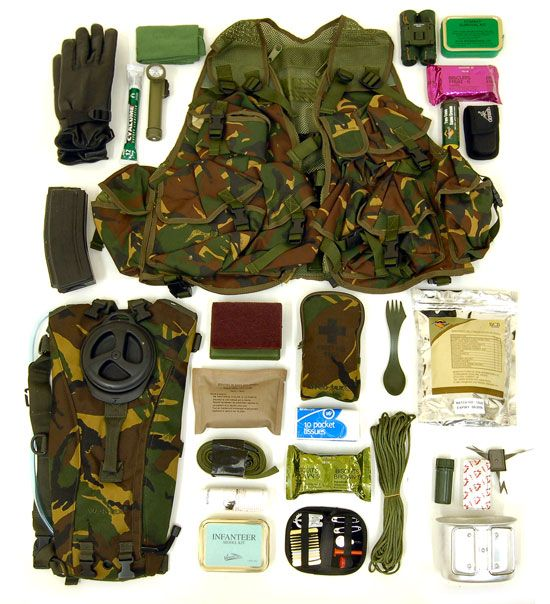 Assault Vest Kit Layout Survival And Field Craft