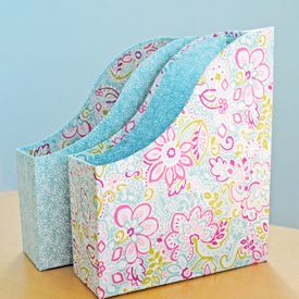 Transform magazine files into these stunning pretty boxes. Full photo tutorial.