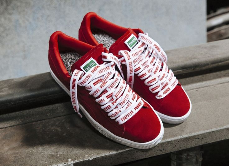 puma suede vintage rouge