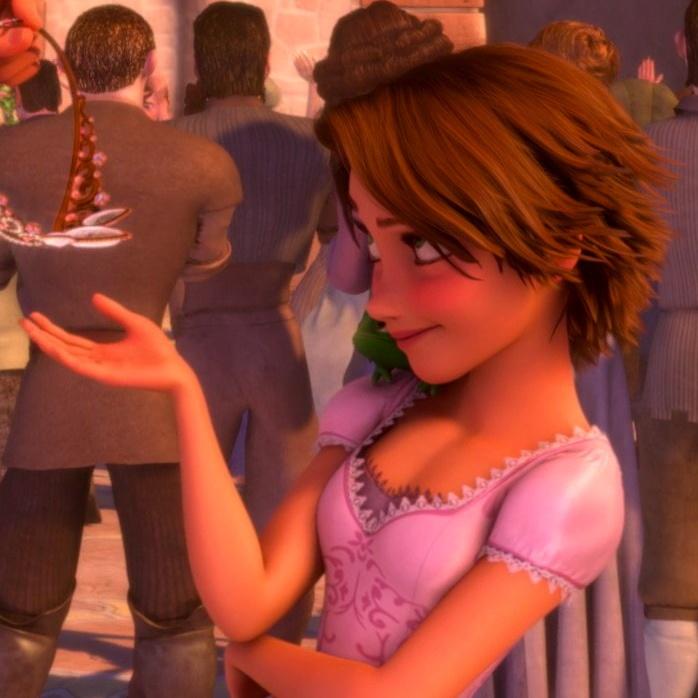 short hair Rapunzel