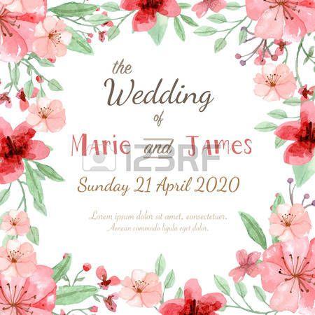 Fiore carta invito di nozze salvare la scheda data cartolina d auguri Archivio Fotografico