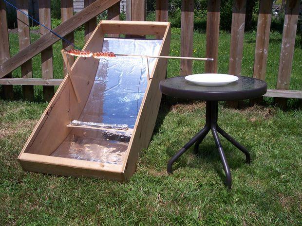 Build A Solar Hot Dog Cooker Homemade Solar Cookers Diy