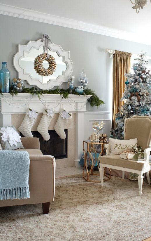 30 besten Weihnachts-Wohnzimmer-Dekorationsideen   Wohnzimmer ...