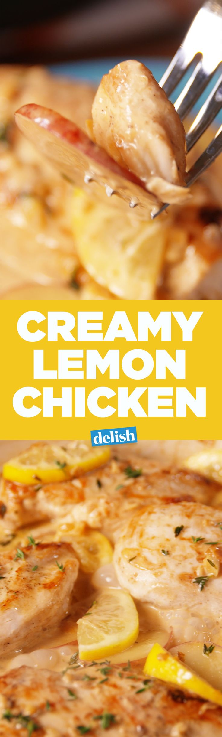 The sauce in this Creamy Lemon Chicken is restaurant level. Get the recipe on Delish.com.
