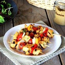 Indian Pineapple-Chicken Kebabs