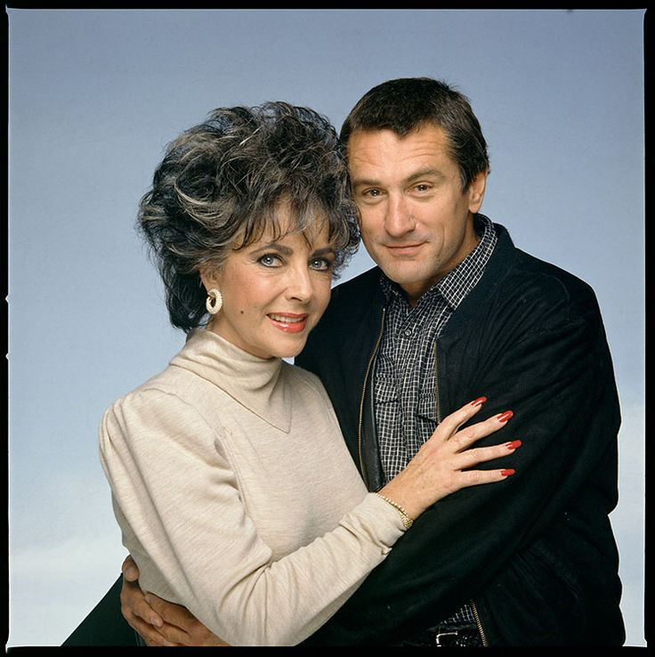 Elizabeth Taylor & Robert De Niro , 1987, Los Angeles, at the Paramount Pictures 75th Anniversary Party / Terry O'Neill