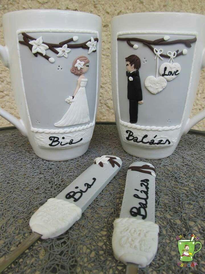 #wedding #nászajándék #bögre #kanál #csipcsupcsodak