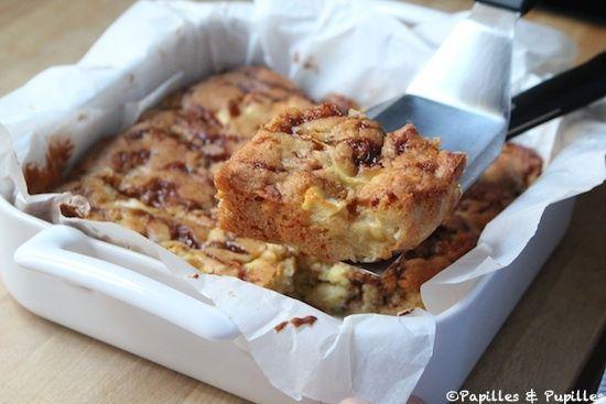 Brownie pommes caramel noix de macadamia