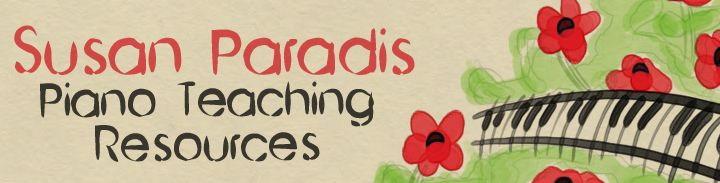 Susan Paradis Piano Teacher Resources ~ My FAVORITE go-to site for music studio resources!