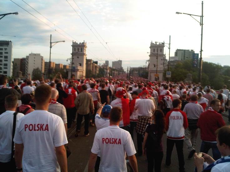 Warsaw, on the way to stadium