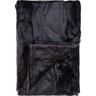 Soho Living  Grey Luxury Soft Microfiber Blanket
