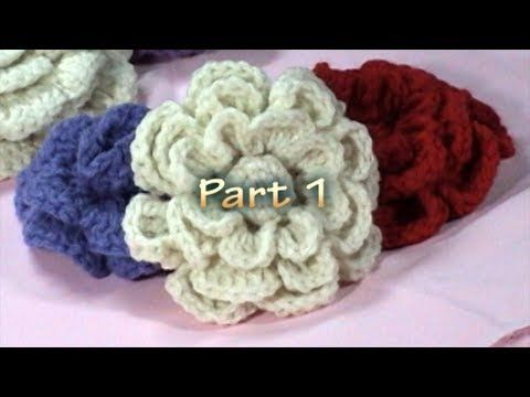 ▶ Crochet Flower Tutorial, Part 1 - YouTube