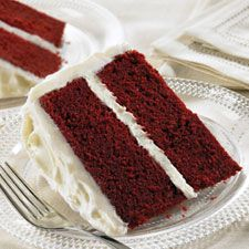 Red Velvet Cake - This is the legendary ruby colored red velvet cake with heavenly creamy rich frosting. This is an elegant cake, moist and delicious with a wonderful chocolate taste.