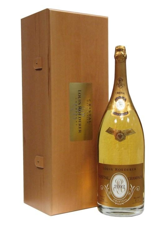 Louis Roederer Cristal 2002 / Methuselah : Buy Online - The Whisky Exchange - A huge methusaleh (6 litres) of Louis Roederer's top of the range Cristal champagne. 2002 was an excellent year for champagne, with Berry Brothers claiming it to be the greatest vintage since 1990,...