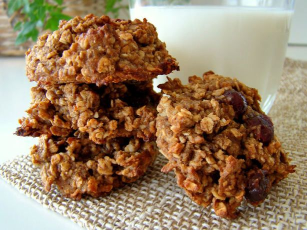 This recipe makes great cookies and even better bars. In its original form, following the recipe, it has a nice mild balance of oatmeal and apple flavours. Three cookies is one full serving of whole grains, and a full serving of fruit. It keeps at least a week without getting dried out (and then my four year old inhaled the last bar). Im planning to try it again with cut up dried apricots and toasted sesame seeds. Try it out! (Found it in the Toronto daily 24 Hours paper, October 3, 2005)