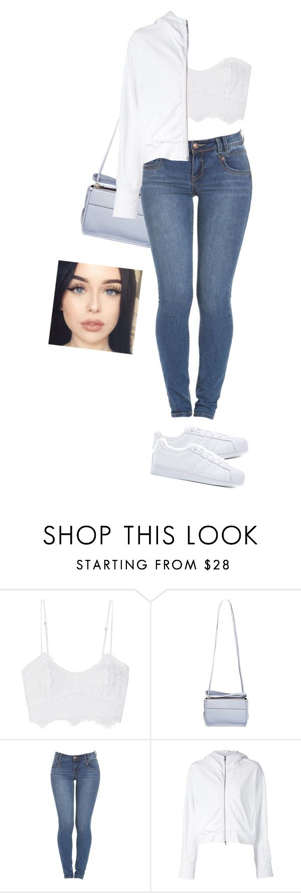 """""""simple // 34.0"""" by akiraokay ❤ liked on Polyvore featuring Miguelina, Proenza Schouler, Lareida, adidas Originals, Brinley Co and white"""