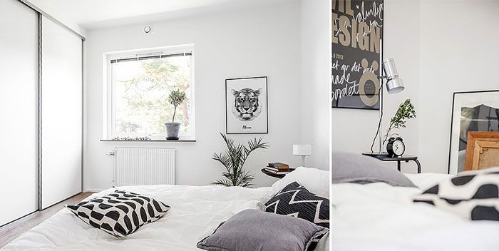 A Luminous Monochrome Apartment with a Touch of Green - NordicDesign