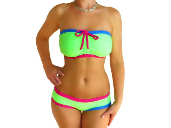 Hey, I found this really awesome Etsy listing at https://www.etsy.com/listing/156053832/swimwear-plus-size-neon-bikini-strapless