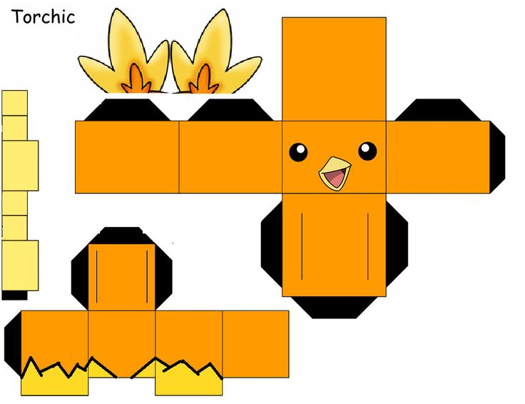 Pokemon Papercraft Pichu Torchic by shadowliepard