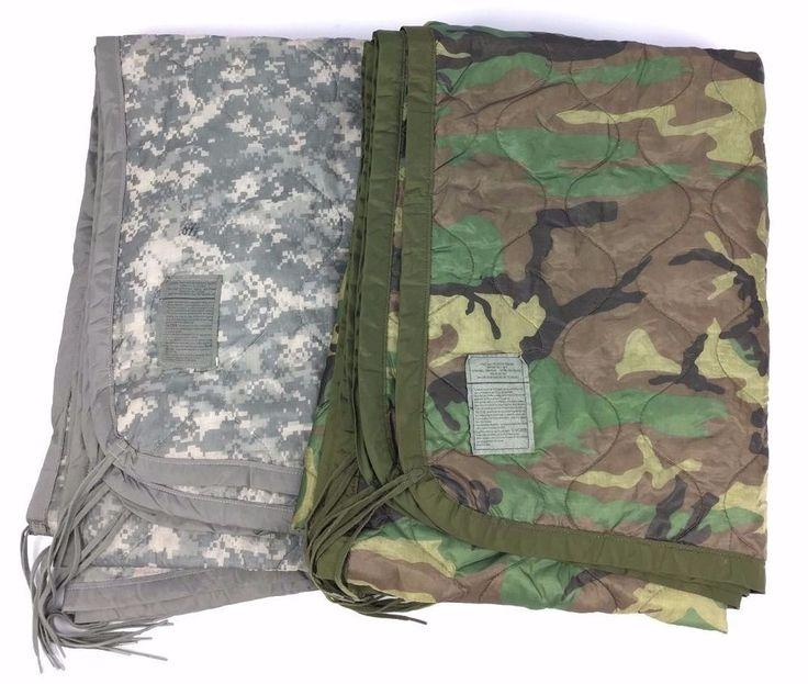 US Army Wet Weather Poncho Liner Woodland ACU Woobie Blanket USGI NEW #Varies