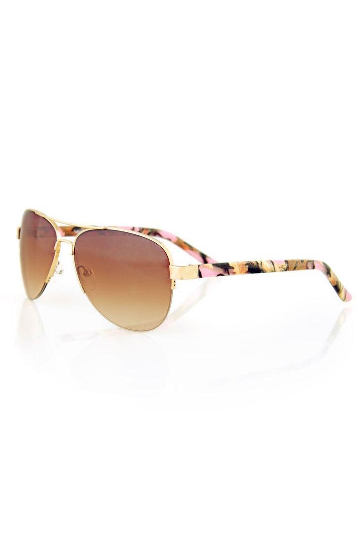 Country Girl Store - Women's Country Girl® Pink Camo Aviator Sunglasses, $16.00 (http://www.countrygirlstore.com/accessories/sunglasses/country-girl-pink-camo-aviator-sunglasses/)