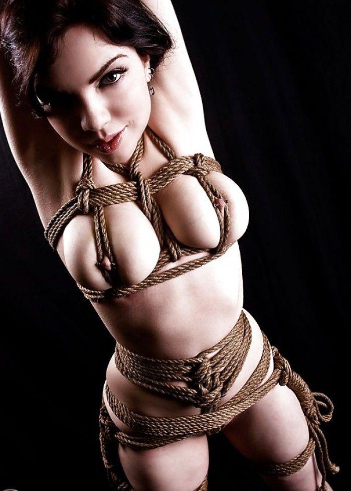 High class woman in nude bondage