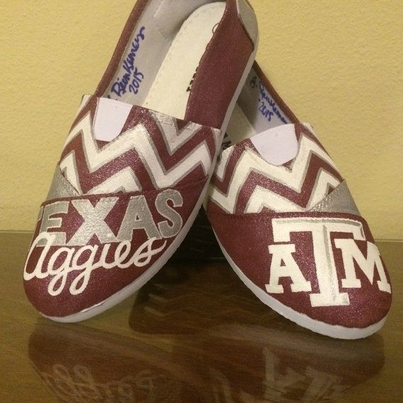 Texas A&M University Aggies womens shoes Toms by GetSpiritShoes