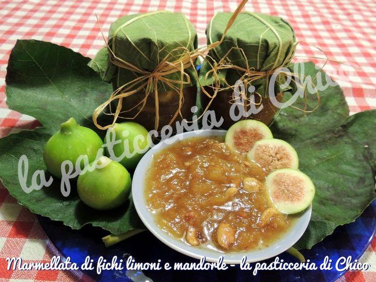 Marmellata di fichi limoni e mandorle