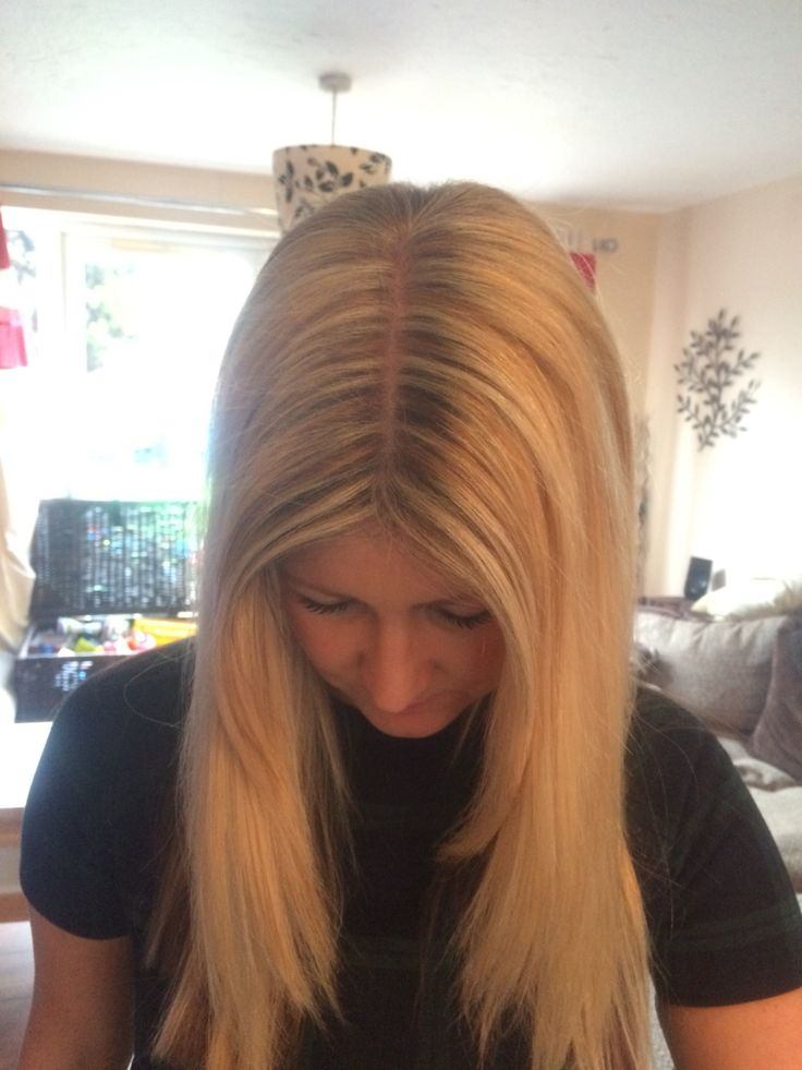 Blonde Sliced Highlights Hair Pinterest Blondes