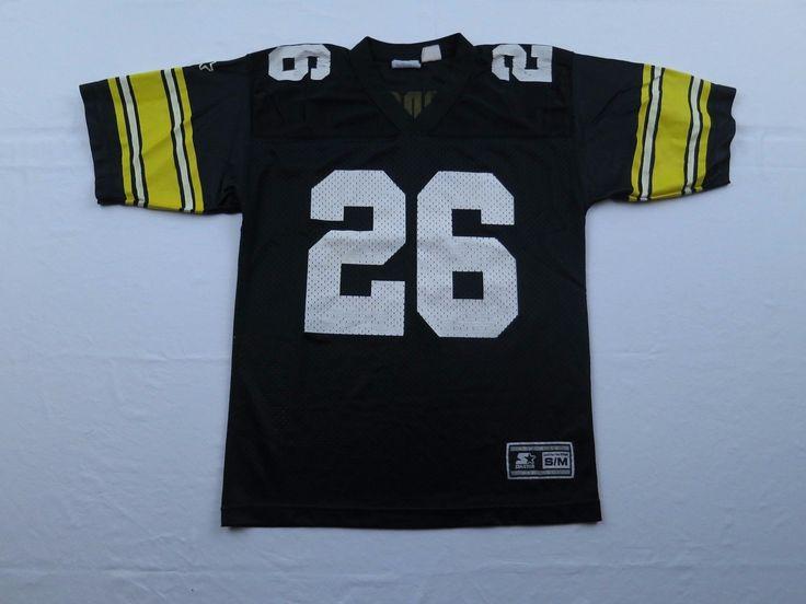 Vtg 90s Starter Mens Rod Woodson Pittsburgh Steelers NFL Football Jersey Sz S M