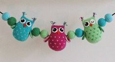 Create and Decoration: Pattern on mobile stroller with owls