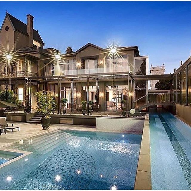 Melbourne's most expensive home, has sold for a reported $25 million. This is the back of the house and its two swimming pools Melbourne's Mega Mansion Shakespeare Grove, Hawthorn VIC Tag your friends! ▬▬▬▬▬▬▬▬▬▬▬▬▬▬▬▬▬▬▬▬ Tag your photos and videos with #IGMansions : @vicprop