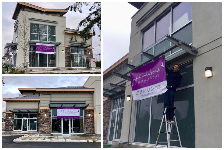 We put up our OPENING SOON signage today and couldn't be more excited! We can't wait to Joyfully Indulge you all at our new bakeshop very soon!