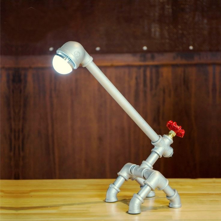 62.99$  Watch here - http://ali8pe.worldwells.pw/go.php?t=32671682100 - Retro Metal desk lamp Light Novely Style Antique Iron Industrial Water Pipe Tube Desk Lamp Light Led Lamp 62.99$