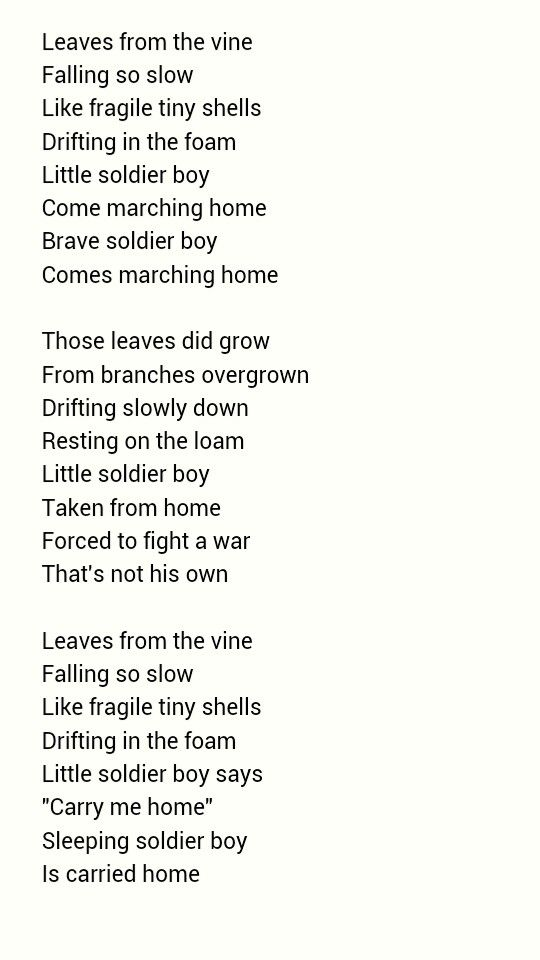 Leaves From The Vine. If anyone imagined Iroh singing that and didn't cry I think you need to get your feels checked