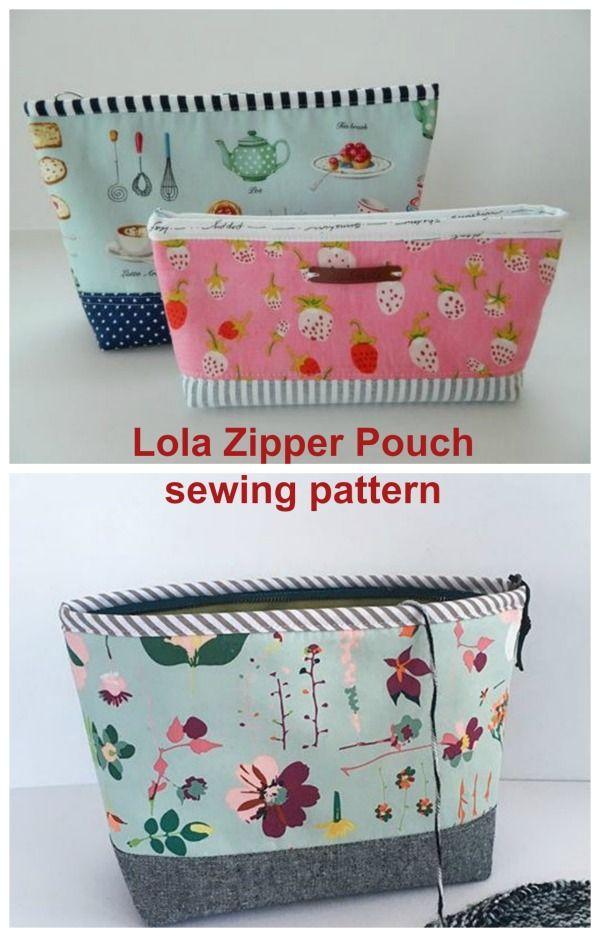 Lola Zipper Pouch Sewing Pattern Sew Modern Bags Pouch Pattern Pouch Sewing Wallet Sewing Pattern