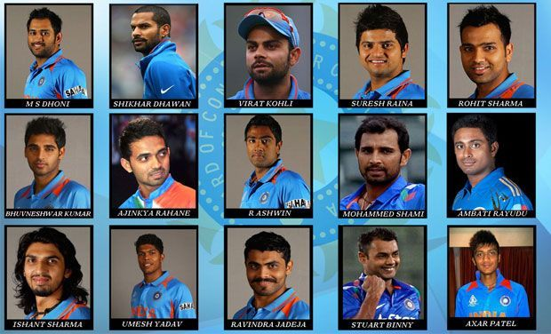India's Final 15 Man Squad For ICC Cricket World Cup 2015