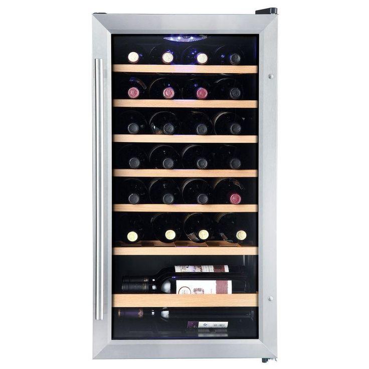 Vissani 17 in. 28Bottle Wine Cooler in Stainless Steel