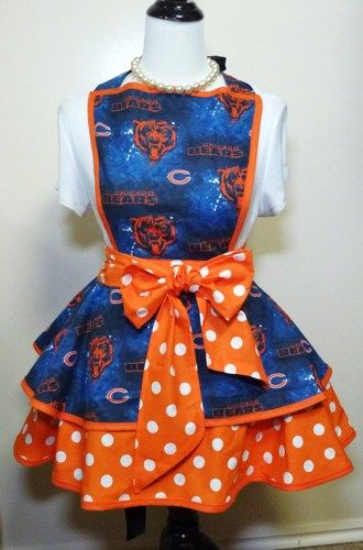 Chicago Bears Womens Aprons, Flirty, Hostess, apron | Gidgets - Accessories on ArtFire