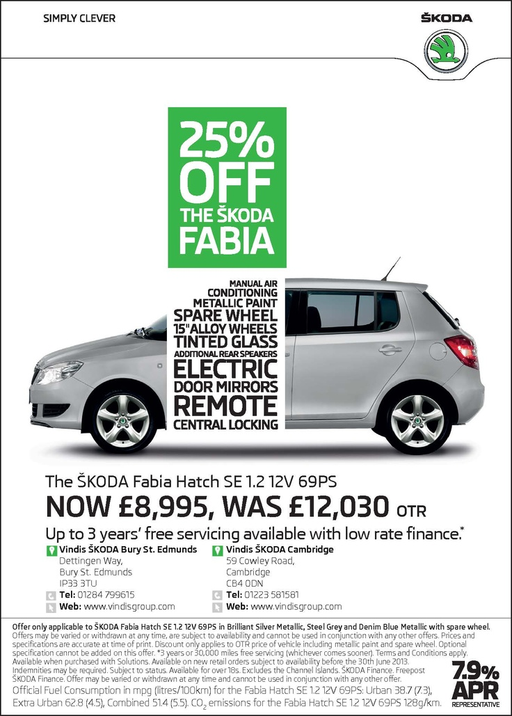 Offers - Skoda Fabia Hatch