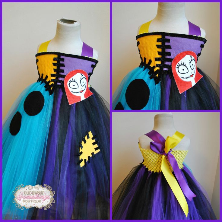 Sally Inspired Nightmare Before Christmas Tulle Tutu Dress Costume Infant to Girls by OurSweetSomethings4U on Etsy