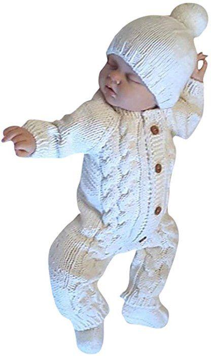59bd89e2f Amazon.com  Goddessvan Newborn Baby Kids Warm Knitted Long Sleeve ...