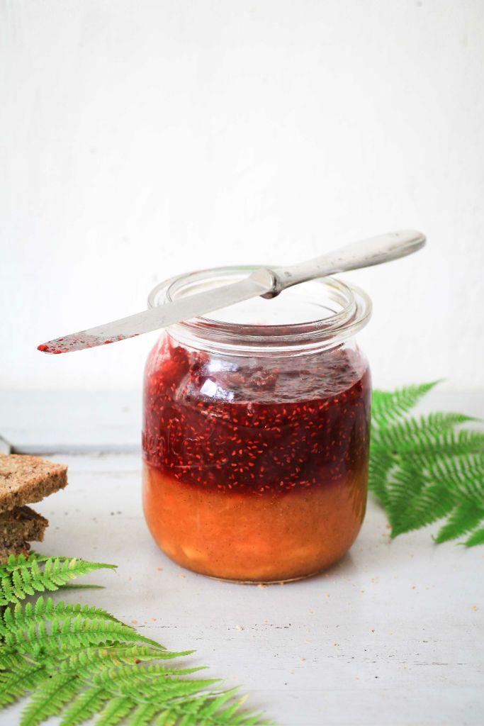 Pfirsich Melba Marmelade – Pfirsich küsst Himbeere. Eine Schichtkonfitüre